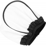 ER Difusor Bounce Flash Programable Universal Para Canon 580EX 430EX II/550EX/540EZ -Blanco Y Negro