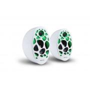 Astrum SU150 fehér-zöld 2.0 csatornás hangszóró 3,5mm jack csatlakozóval, USB-s áramellátással