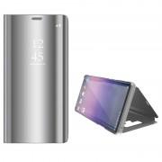 Luxury Series Mirror View Samsung Galaxy Note9 Flip Case - Prateado
