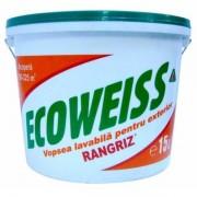 Rangriz Ecoweiss Vopsea lavabila de exterior, alba, 15 L