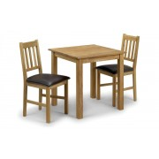 Coxmoor Solid Oak Square Dining Table - Table + 2 Chairs