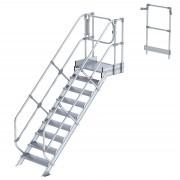 Günzburger Steigtechnik Günzburger Treppen-Modul 1870mm Plattformoberkante Aluminium geriffelt 9 Stufen