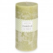 Maisons du Monde Green cylindrical candle 9 x 18 cm