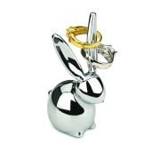 UMBRA Комплект от 3 бр. поставки за пръстени ZOOLA - цвят хром