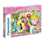 Puzzle Clementoni - Jewels - Disney Princess, 104 piese (65223)