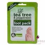 Xpel - Tea Tree & Peppermint Deep Moisturising Foot Pack - Mély hidratáló lábmaszk