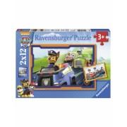 Puzzle Patrula Catelusilor In Actiune, 2X12 Piese Ravensburger