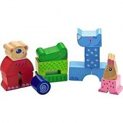HABA Zippity Zoo Jr. - 15 Piece Mix & Match Animal Block Set