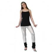 Merkloos Zilveren legging met puntige gaten