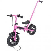 "Globe House Products Ghp 12"" Wheel Diameter Pink No-Pedal Kids Balance Bike with Eva wheels & Bike Stand"