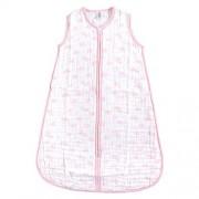 Yoga Sprout Saco de Dormir Unisex de algodón sin Mangas para bebé, Pink Sky Muselina (1 Unidad), 12-18 Meses