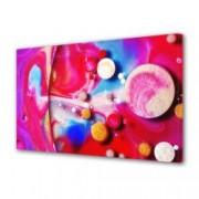 Tablou Canvas Premium Abstract Multicolor Puncte Colorate Pe Fundal Colorat Decoratiuni Moderne pentru Casa 80 x 160 cm