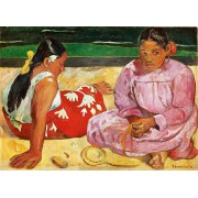 Puzzle Clementoni - Paul Gauguin: Women from Tahiti on the Beach, 1.000 piese (62413)