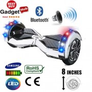 8″ Silver Chrome Bluetooth Segway Hoverboard + FREE Carry Case