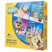 Puzzle 4 in 1 Spongebob - In vacanta, 50 piese