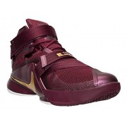 Nike Mens Lebron Soldier IX Basketball Shoe (10 D(M) US, Deep Garnet/Metallic Gold)