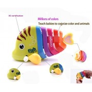 Key Operated Wind up Stalking Toy: Mini Robotic Fish in Candy Colours. Pack of 2