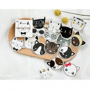 Makimama 90 Piece Set Anime Stickers Notebook Sticker Funny Cartoon Animal Cat Stickers Decorative Smile Cats Cute for Notebook and Laptop - LST005, Multicolour