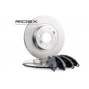RIDEX Kit frenos, freno de disco 3405B0167 RENAULT,NISSAN,KANGOO (KC0/1_),KANGOO Express (FC0/1_),Thalia I (LB_),Kubistar Furgón (X76)