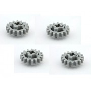 Lego Parts: Technic, Gear 16 Tooth (New Style Reinforced) (PACK of 4 - LBGray)