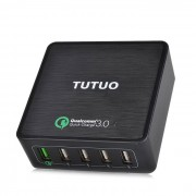 tutuo 40W de 5 puertos USB de viaje cargador rapido cargador universal (enchufe de la UE)