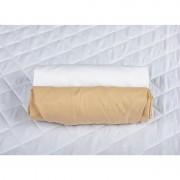 Set 2 x cearceaf cu elastic pt patut de 140x70 cm cappucino+alb