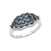 Inel argint 925 cu safire albastre