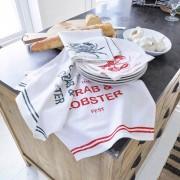 LOBERON Servet, set van 4 Lobster / wit