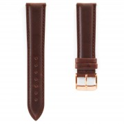 Dane Dapper Bracelet de montre en cuir marron à boucle de couleur or rose / rosegold