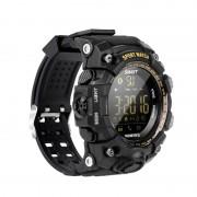 Ceas smartwatch EX16S Sport BT 4.0, monitor fitness, padometru, Android, iOS, notificari, negru