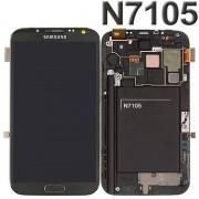 Ecran Lcd Tactile Châssis Assemblés Gris Pour Samsung Galaxy Note 2 4g Lte N7105