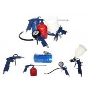 Set 5 Accesorii Pistol de Vopsit pentru Compresor si Aer Comprimat, 2-10 Bar, Furtun 5m si Diverse Pistoale