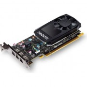 Placa video PNY NVIDIA Quadro P400 DVI, 2GB GDDR5 (64 Bit), 3x miniDP (4x mDP to DVI-D), LP