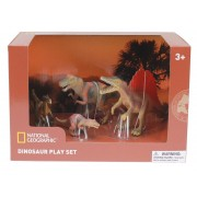 Set 4 figurine Troodon, Spinosaurus, Tyrannosaurus si Puiul National Geographic, 3 ani+