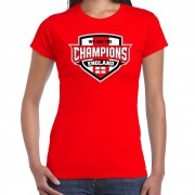 Bellatio Decorations We are the champions England / Engeland supporter t-shirt rood voor dames