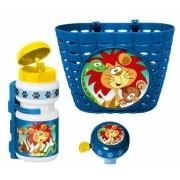 Stamp accessoiresset Jungle Animals blauw 3 delig