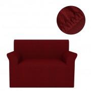 vidaXL Разтегателен калъф за диван, бордо, пике