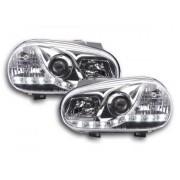 FK-Automotive faro luci di marcia diurna Daylight VW Golf 4 anno di costr. 97'-03 cromato