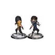 2 Bonecos Mortal Kombat X Bubblehead Scorpion vs Sub-zero Mezco Suika