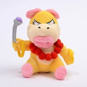 "Latim Super Mario Bros Plush 7.2"" / 18cm Koopalings Wendy Doll Stuffed Animals Figure Soft Anime Collection Toy"