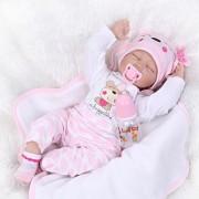Highpot Reborn Dolls Lifelike Newborn Realistic Baby Doll Silicone Full Body Baby Girl or Boy Anatomically Correct Toys (B)