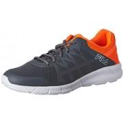 Fila Men's Memory Finity Crystal, Sock Orange and White Running Shoes -7 UK/India (41 EU)