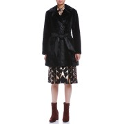 【72%OFF】REBECCA ベルト付 テーラードカラー ボアコート ブラックノワール s ファッション > レディースウエア~~パンツ