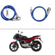AutoStark Heavy Duty Multi Purpose Goti/Key Helmet Lock (Blue) (Pack of 1) for Bajaj Pulsar 180 DTS-i