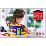 Ratna's Toyztrend Sweet Home Junior Colorful Interlocking Blocks For Kids Ages 3+ To Build Their Own Sweet Home