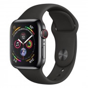 Apple WATCH Series 4 GPS+Cellular 40 mm in acciaio nero siderale - Sport Nero