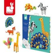 Hârtie set animale creative 3D Janod