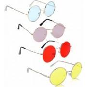 I Flash Round Sunglasses(Blue, Pink, Red, Yellow)