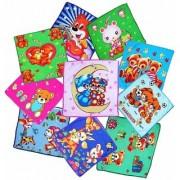 FUNNY Fantastic Best Super Soft Quality Face Towel Cartoon Colorful Kids Handkerchiefs ( Set Of 4 Pcs. )
