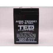 Acumulator 6V 6.1Ah 70x47x100mm AGM VRLA TED